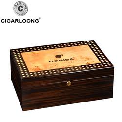 COHIBA boîte à cigares de grande capacité | Coffret à cigares, en bois de cèdre, humidificateur à cigares, coffret hydratant, coffret à