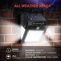 新しい 30 40 60 LED Abs 屋外防水省エネ街路庭ランプセキュリティ Led ソーラーパワーモーションセンサー壁ライト