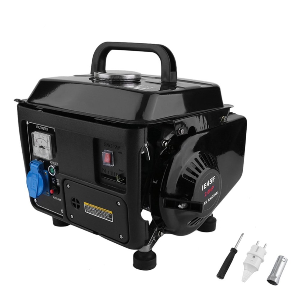 цена на New Portable Gasoline Electric Gas Generator Set Low Noise Energy Consumption 1200W 2HP Power Supply For RV Cars Vehicle Camping