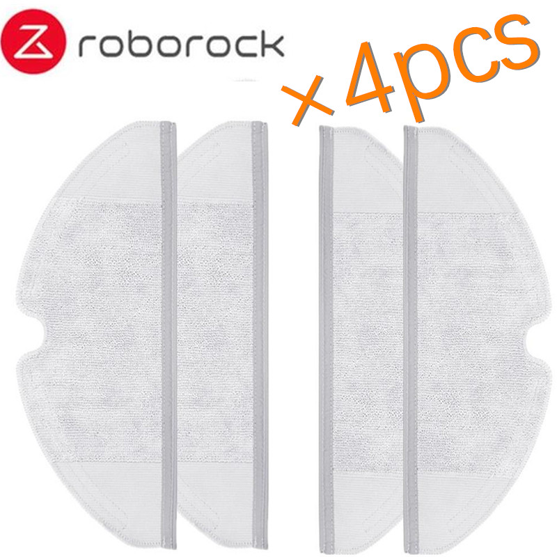 4pcs Roborock Parts Mop Cloths Suitable for Xiaomi Vacuum Cleaner Generation 2 Dry Wet Mopping Cleaning