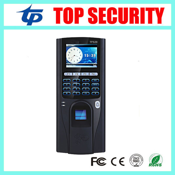 TCP/IP biometric fingerprint time attendance and door access control system 2.4 inch color screen fingerprint access controller tcp ip biometric face recognition door access control system with fingerprint reader and back up battery door access controller