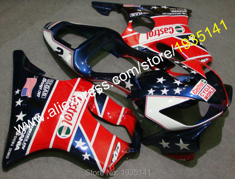 Hot Sales,For Honda CBR600 F4i 01 02 03 CBR 600 F4i 2001 2002 2003 CBRF4i American Flag Motorcycle Fairing (Injection molding) gray moto fairing kit for honda cbr600rr cbr600 cbr 600 f4i 2001 2003 01 02 03 fairings custom made motorcycle injection molding