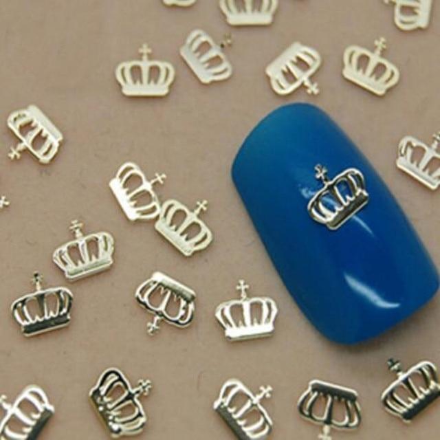 1lot(10pcs) Nail Metal patch fashion copper Super bright thin nail sticker decoration nail art tool