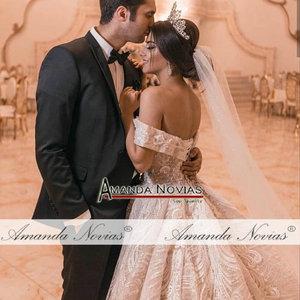 Image 4 - 2019 nuovo abito da sposa con largo della spalla cinghie robe de soiree