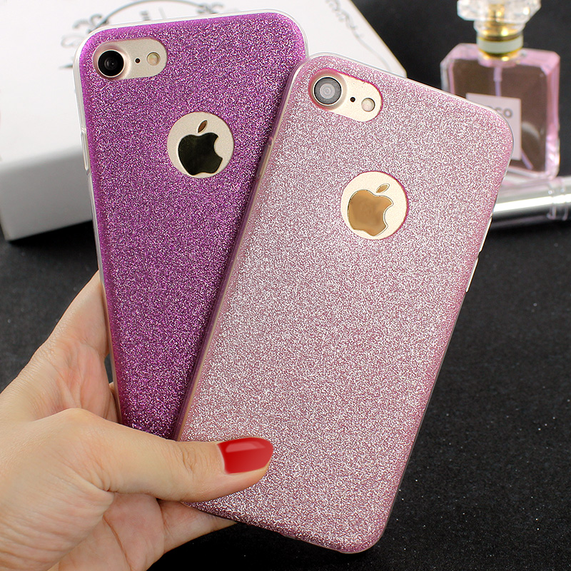 Luxury Ultra Thin Glitter Bling Cover Case For iPhone 6 6S Plus 5 5s SE Candy Soft Silicone Phone Cases for iPhone 7 Plus Covers