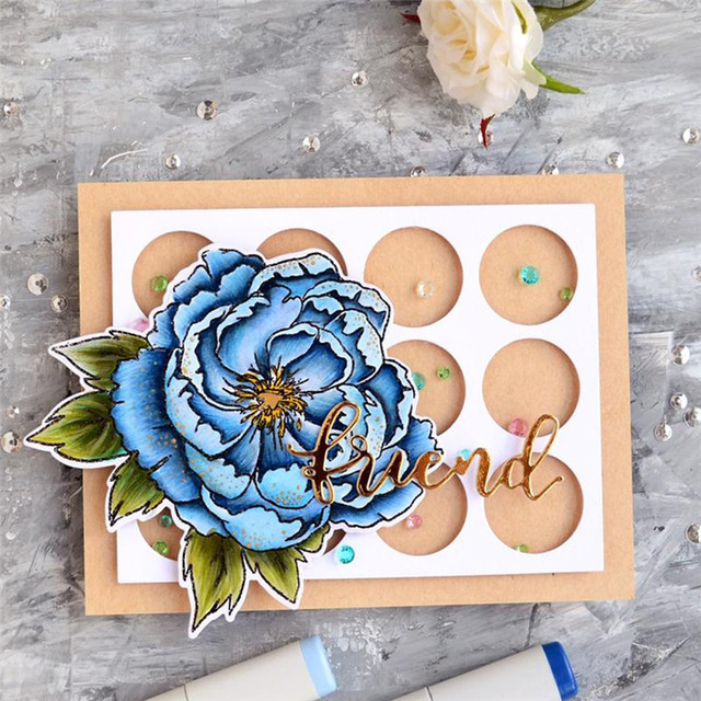 US $1 15 21% OFF|Naifumodo Dies and Stamps Scrapbooking New 2019 Flower  Alphabet Stamp Embossing Craft Die and Stamp Sets-in Stamps from Home &  Garden