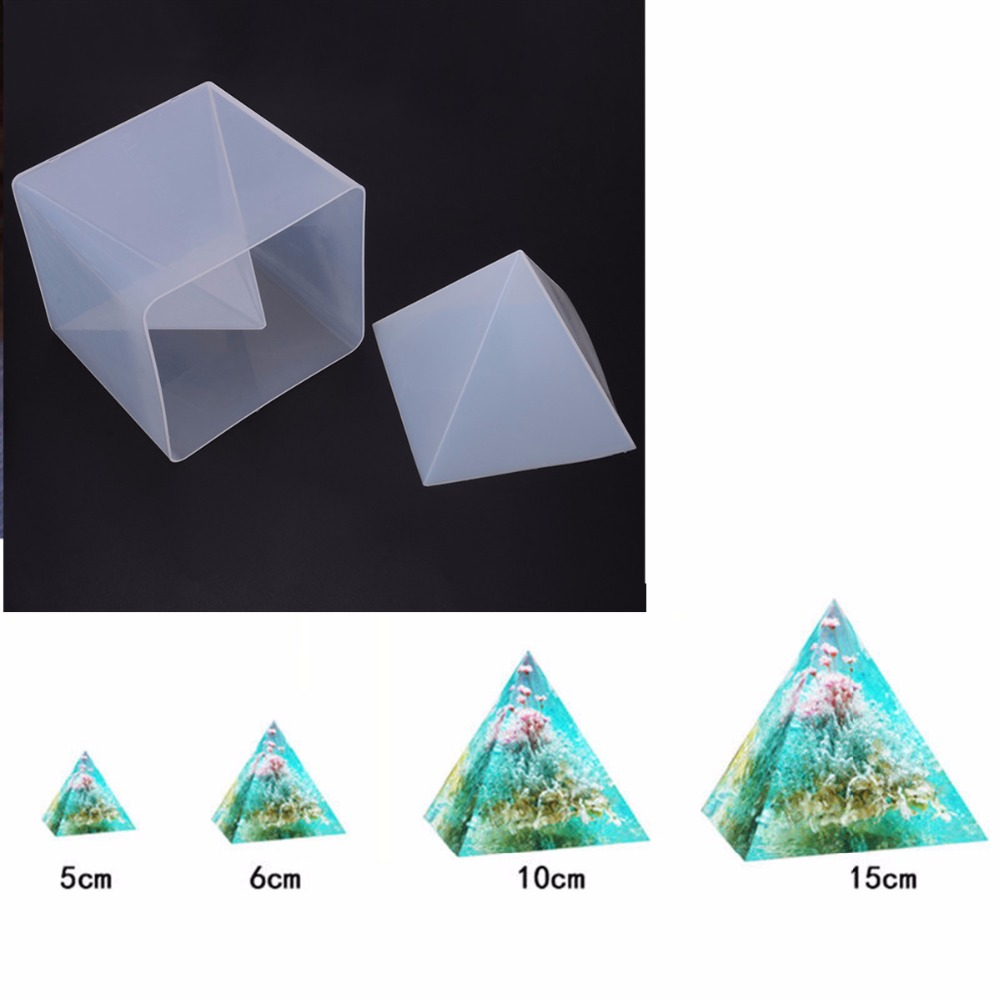 Super Pyramid Shape Silicone Mould DIY Jewelry Crystal Mold Resin Craft Jewelry Making Ornament Mold + Plastic Frame|Jewelry Tools & Equipments|Jewelry & Accessories - title=