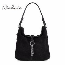 2018 г. Модные женские спилок сумка женские замшевые повседневные Crossbody Сумочка Повседневная Женская Сумка Хобо топ-ручка сумки