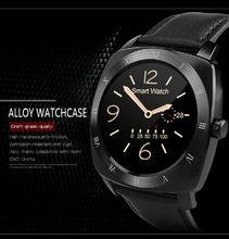 2016 DM88 Smart Uhr Round Display Lederband Bluetooth Smartwatch Unterstützung Pulsmesser Für IPhone IOS Android-Handy