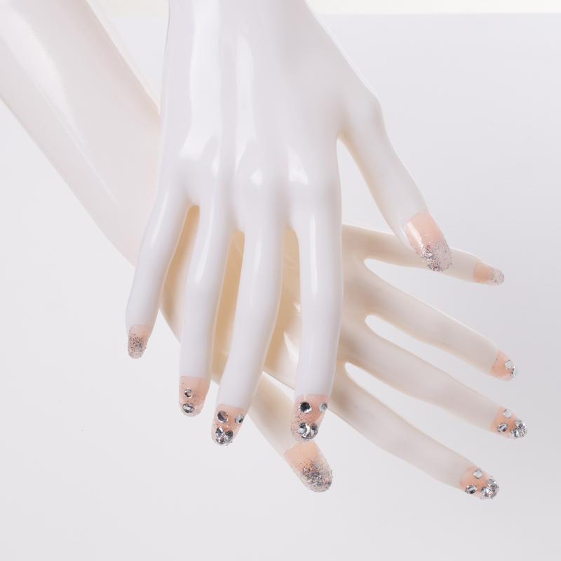 High quality One Pair Realistic White Female Mannequin Dummy HandsUnbreakable Manikin Hand For Jewelry Ring Display