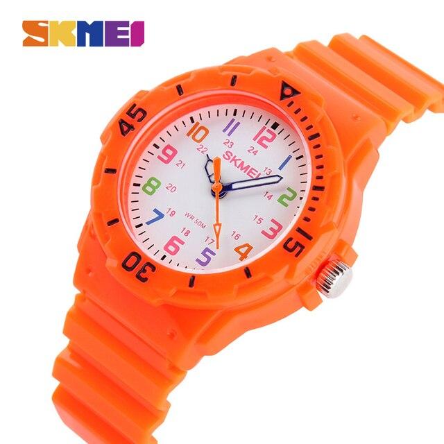 SKMEI Fashion Casual Children Watches 50M Waterproof Children Kids Girls Boys St