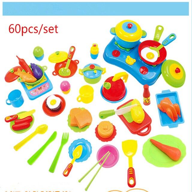 60 pz/set di plastica cucina giocattolo cucina cucina in miniatura ...