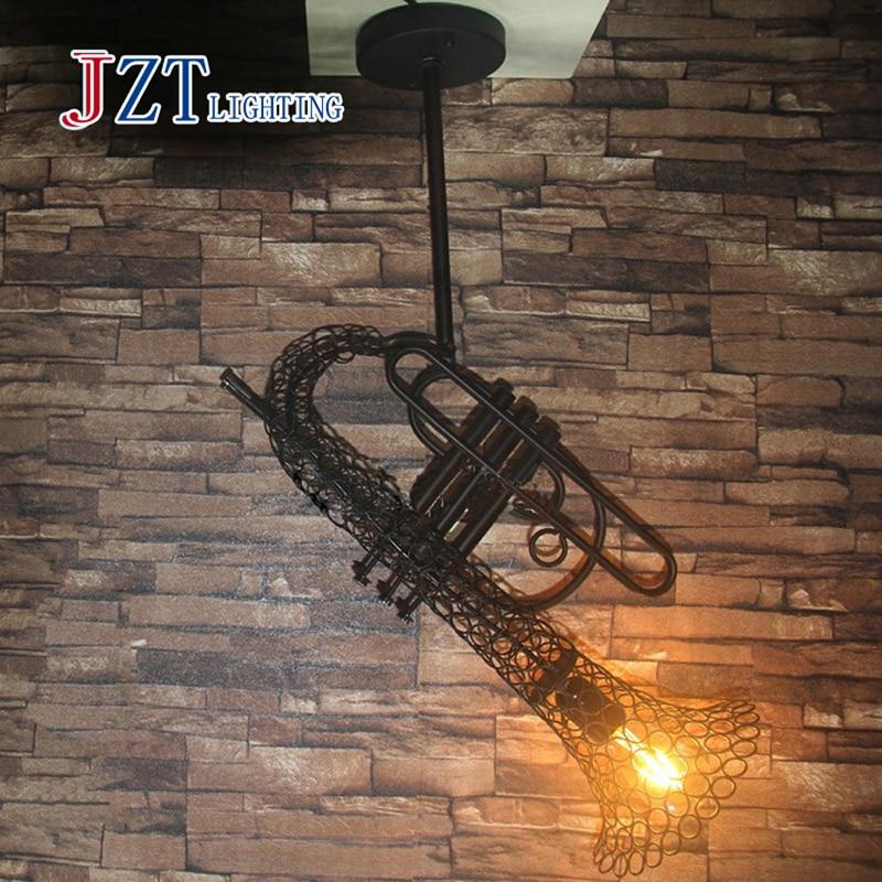 Z Loft Retro industrial style Iron Sax Pendant Lamp Restaurant Coffee House Bar Antique Creative Chandelier (bulb not included) romantic retro minimalist loft industrial corridor chandelier fashion style heavy metal chandelier