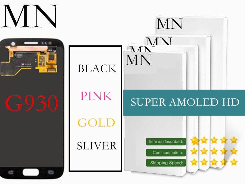imágenes para 100% Probados Repuestos Para Samsung Galaxy Borde SM-G935 G935F LCD Digitalizador Asamblea Para S7 S7 sm-G930 G930F G930A