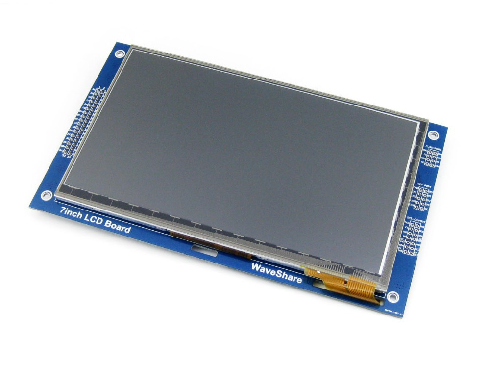 Parts 7inch Capacitive Touch LCD (C) 800*480 Pixel Multicolor Graphic LCD, TFT I2C Touch Screen Display Module Embedded 10KB ROM modules 7inch resistive touch lcd display module 800 480 pixel multicolor screen ra8875 controller embedded 10kb character rom