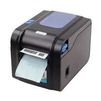 Free shipping 3 5inch/s USB port Xprinter thermal label printer Sticker printer POS printer for Clothing jewelry XP 370B