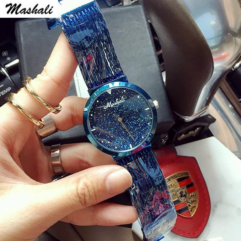 Mashali Brand Luxury Fashion Crystal Women Bracelet Watch Female Diamond Dress quartz Watch Ladies Rhinestone Wristwatches