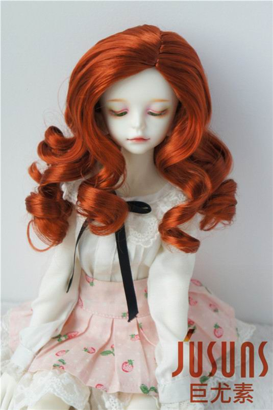 JD343 SD 18-20 cm Synthetic mohair doll wig 7-8 inch Long curly BJD hair easy to restyle synthetic bjd wig long wavy wig hair for 1 3 24 60cm bjd sd dd luts doll dollfie cut fringe