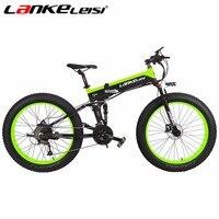 LANKELEISI New Snow EBike 500W Motor Battery 48V E Bike 27 Speed Electric Fat Bike Mountain