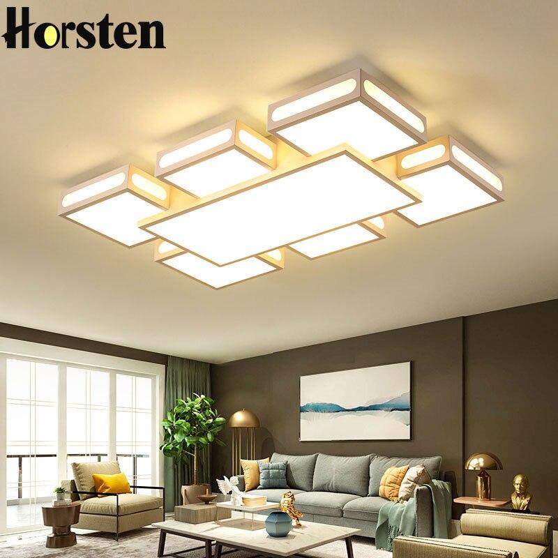 Современный простой светодиодный Потолочные светильники акриловая Высокий Прямоугольный Мощность потолочные светильники для Гостиная Об