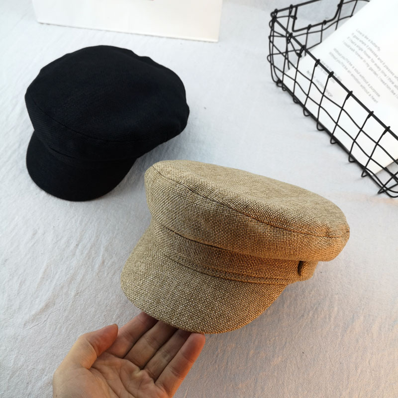 10pcs lot 01901 duxiao4487 new spring solid linen visors hat men women leisure cap wholesale