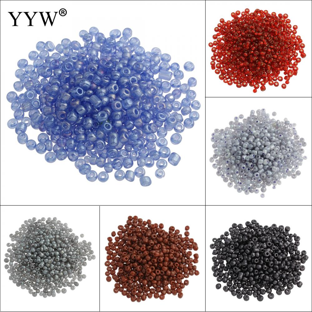 Wholesale DIY 500pcs 3mm Sea Blue Czech Glass Seed Spacer beads Jewelry Fitting