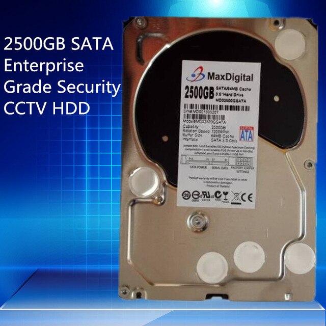 2500 ГБ SATA 3.5 дюйма Корпоративного Уровня Безопасности CCTV Жесткий Диск Гарантия на год