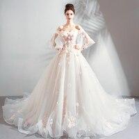 MONARCH TRAIN Appliques upscale 2018 new Women's elegant long gown party proms brides Weddings dresses