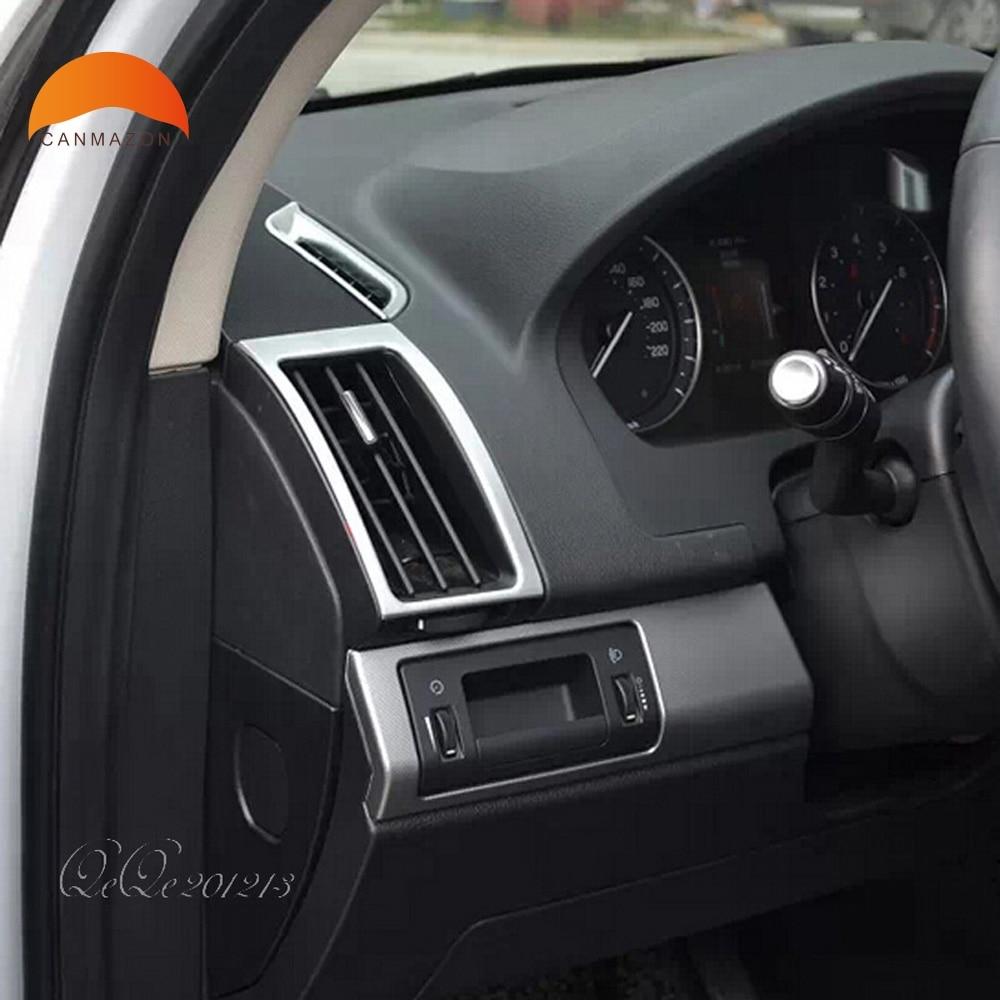 Pour Land Rover Freelander 2 2011-2015 ABS Chrome Intérieur mouldinds AC Air Conditionné Évent Cover Outlet Garniture De Voiture accessoires