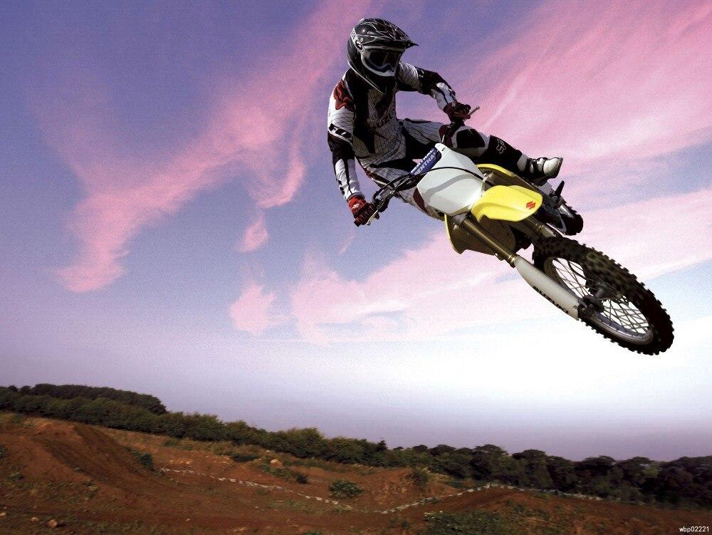 Motocross Bike Stunt Large Wall Art Print
