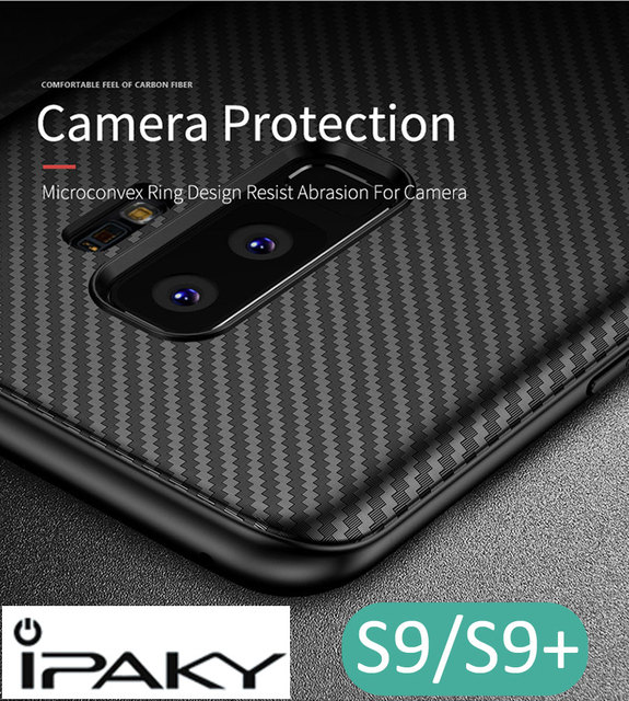 more photos cdfad 4b511 Aliexpress.com : Buy iPaky Carbon Fiber Cover Case For Samsung Galaxy S9  Plus Ultra thin Slim Soft Protector from Reliable case for samsung galaxy  ...