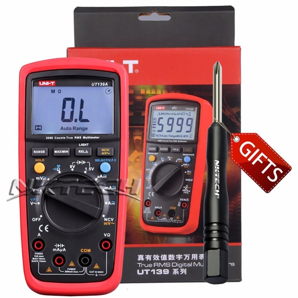 UNI-T UT139C UT139B UT139C Digital Multimeter Auto Range True RMS Meter Handheld Tester 6000 Count Temperature +original box aimo m320 pocket meter auto range handheld digital multimeter