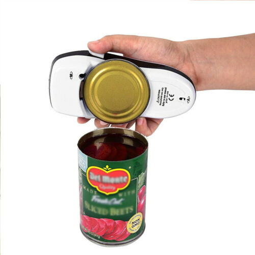 Electric Can Tin Opener Smooth Edge For One Touch Automatic Hands Free Jar Grip New White Tall Electric Handy Can Opener