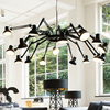 LED Modern Spider Chandeliers Lights Fixture Nordic Black White Stretchable Spider Hanging Lamps Home Office Wroking