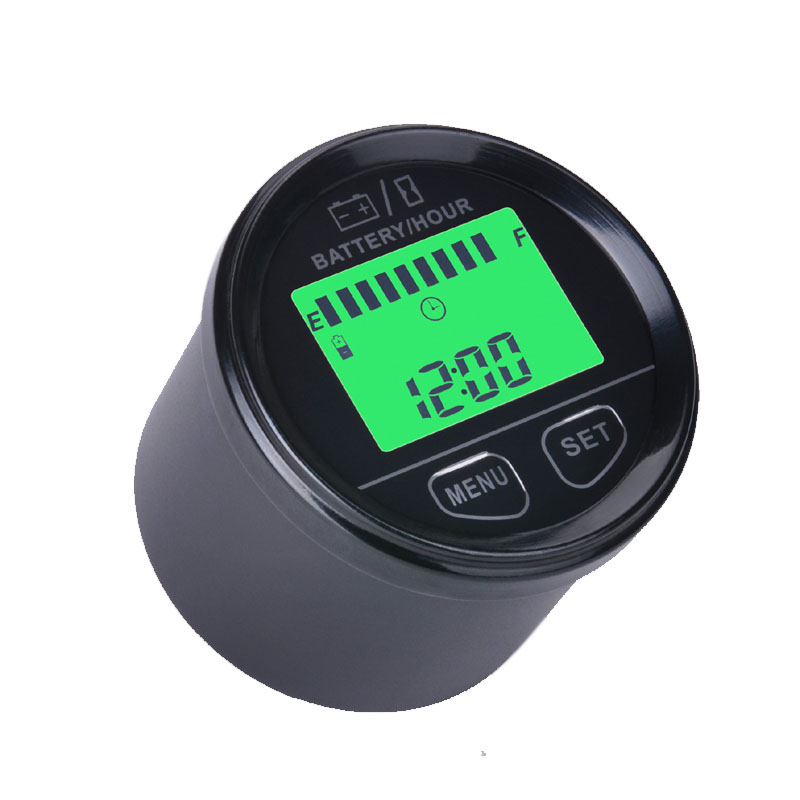 large LCD display Battery Gauge AGM GEL Felio4 VOLT meter battery indicator with hour meter FOR ATV Tractor marine