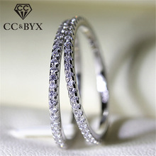 CC Rings For Women S925 Bridal Wedding Jewelry Engagement Party Ring White Gold-Color Silver Plated Drop Shipping Anel CC709