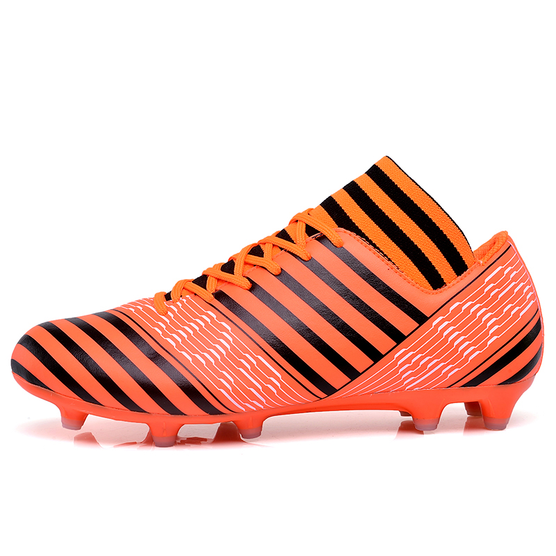 football shoes for men high cleats soccer original With Socks Professional Football Boot FOOTBALL WITH ANKLE BOOTS все цены