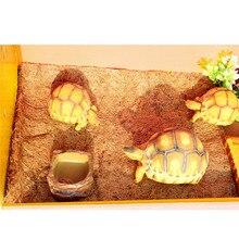Коврик для кровати для питомцев рептилий, аквариум, черепаха, ящерица, рептилия, лазание, Кокосовая пальма, ковер, Террариум, постельные принадлежности E2S