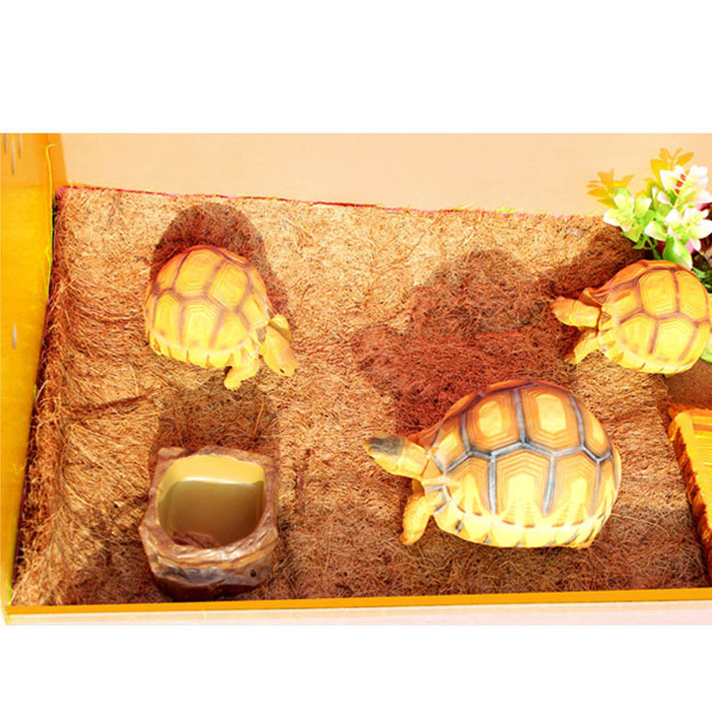 Reptile Pet Bed Mat Aquarium Tortoise Turtle Lizard Reptiles Climbing Coconut Palm Carpet Terrarium Bedding E2S