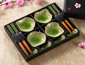 Xbees Japanese Tableware Set Ceramic Dish Box 12pcs/set