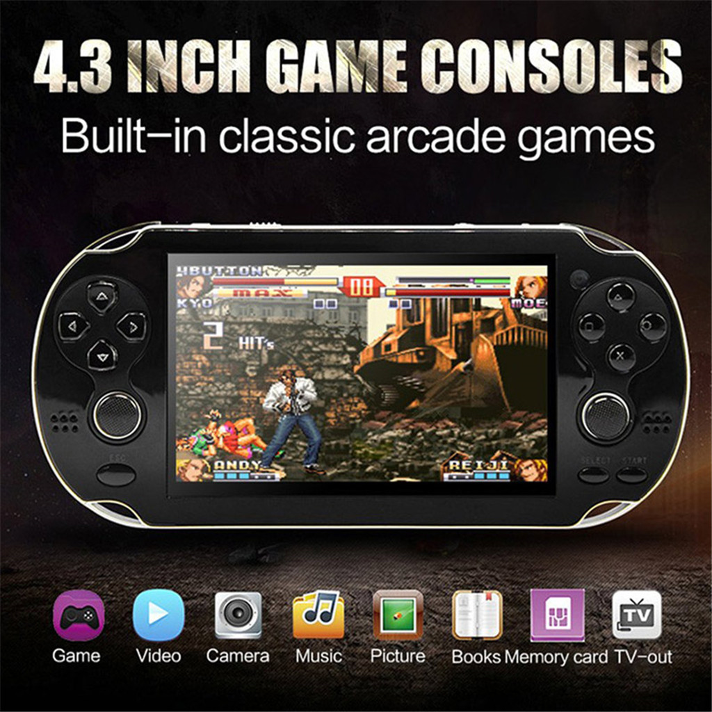 800 Games Retro Handheld Game Console 60Hz Portable Consoles 4.3 Inch  Mini Video Gaming Player  Tv-output doubles game