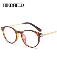 HINDFIELD Ronda Moda TR90 Marco de Los Vidrios Ópticos Mujeres Diseñador de la Marca de Ordenador Miopía Gafas de Lente Transparente gafas de sol hombre