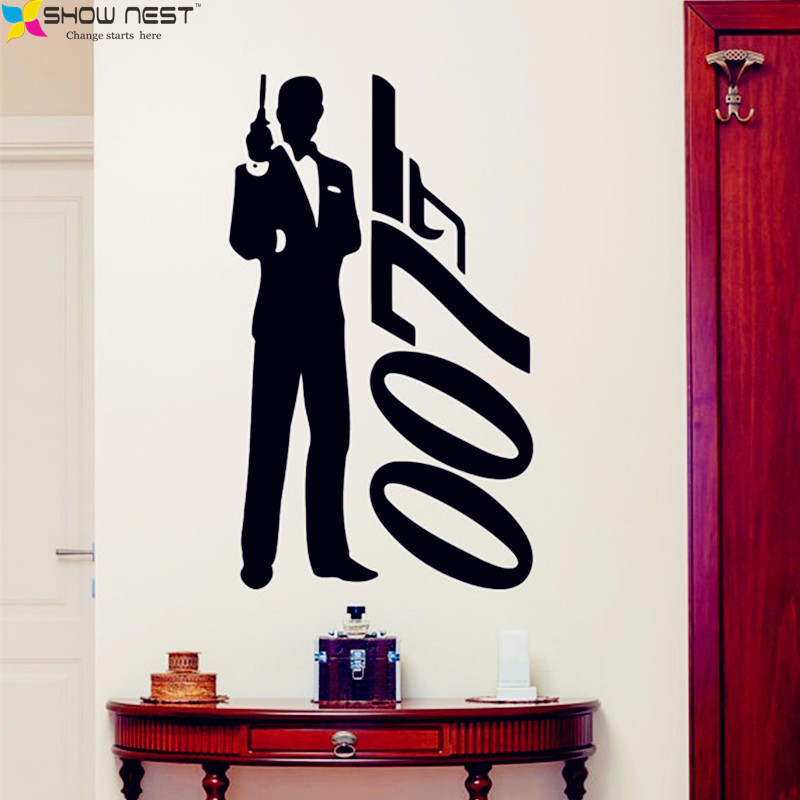 James Bond Wall Sticker 007 Movie Superhero Posters Boys
