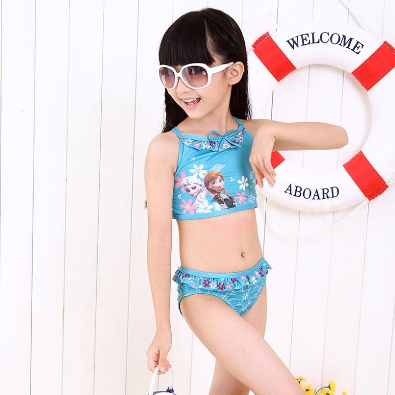8195b6950d Retail New 2014 Summer Girls Kids Children Frozen Elsa Anna Swimsuit  Swimwear 3 9Ages Pink Swim Clothing Sunbath Beach Surfing on Aliexpress.com  | Alibaba ...