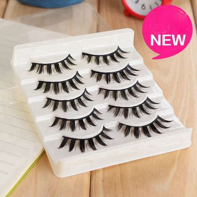 5 Pairs Women Japanese Serious Makeup False Eyelashes Long Thick Natural Beauty Eye Lash Extension DIY Cosmetic Fake Eyelashes 3