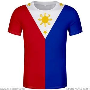 Image 1 - FILIPPINE maglietta fai da te numero nome personalizzato gratuito phl t shirt nazione bandiera ph repubblica pilipinas filippino stampa di testo foto abbigliamento