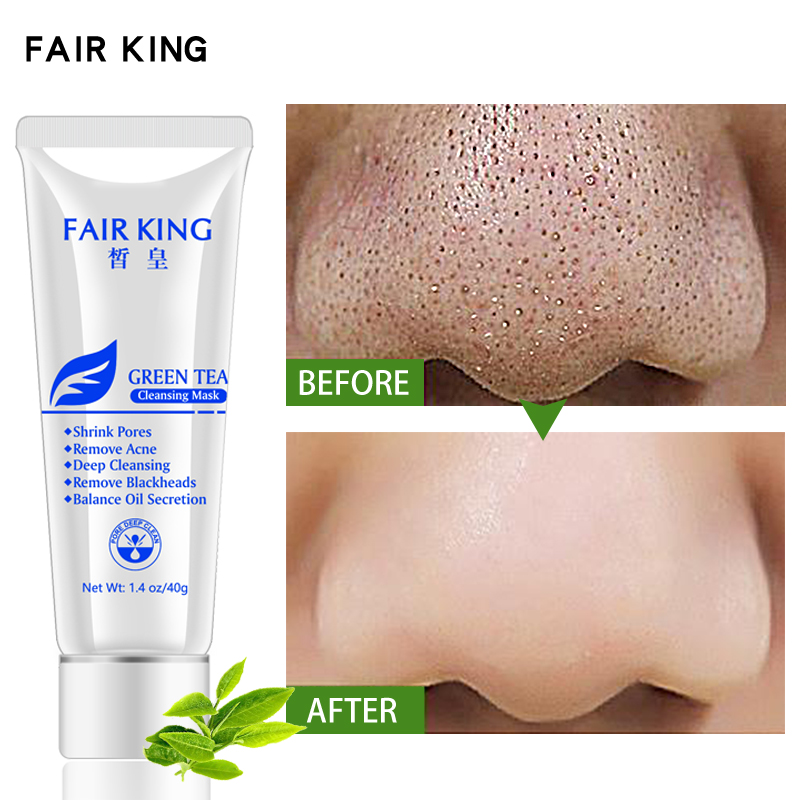 Green Tea Cleansing Face Mask Blackhead Remover Mask Deep Cleansing for Acne Scars Blemishes Wrinkles Facial Face Skin Care