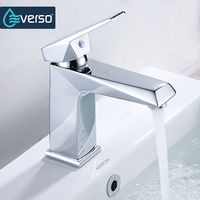 EVERSO 1 Set Brass Body Bathroom Basin Faucet Vessel Sink Water Tap Cold And Hot Mixer