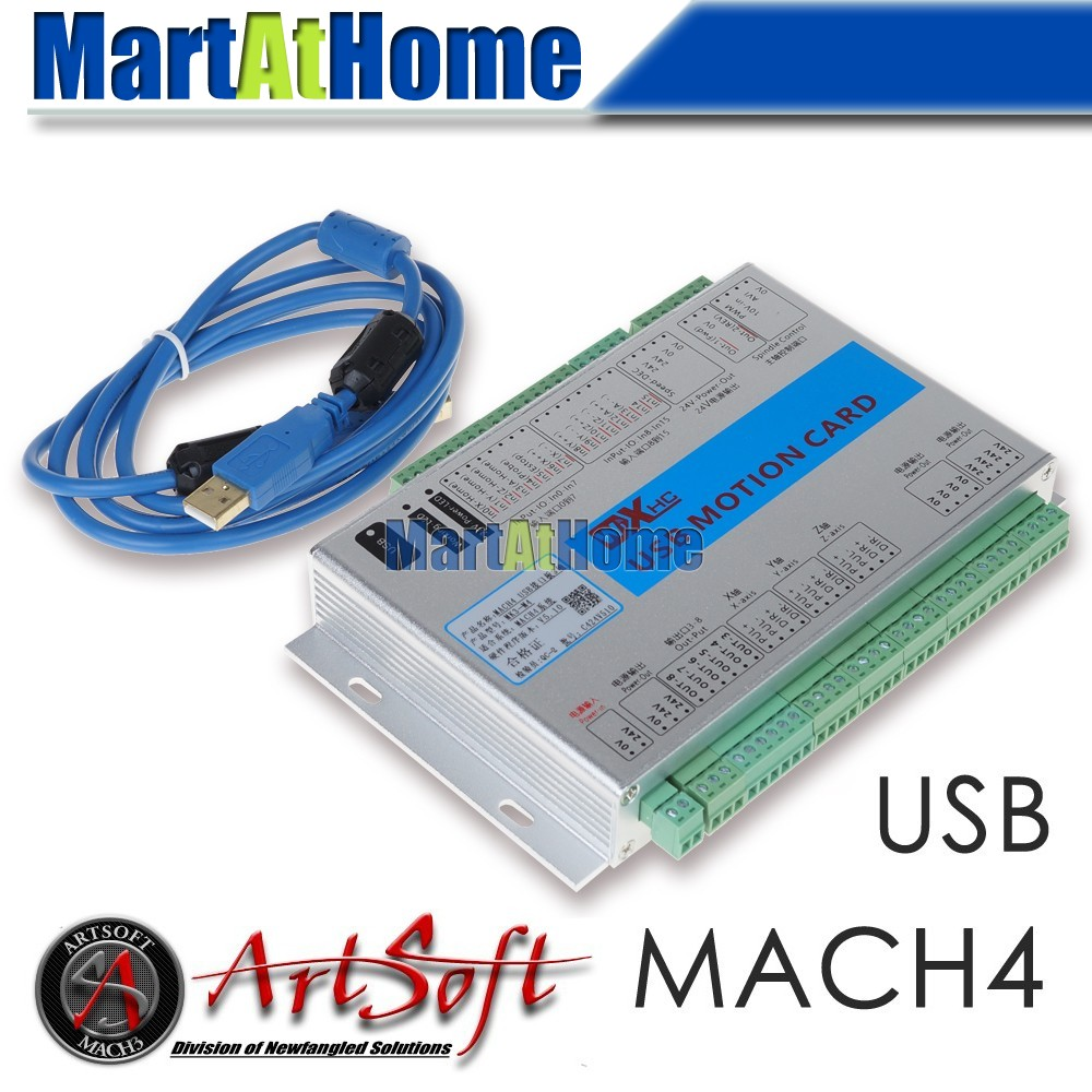 XHC USB 2MHz Mach4 CNC 3 Axis Motion Control Card Breakout Board MK3-M4 for Machine Centre, CNC Engraving Machine #SM780 @SD 4 axis usb mach3 motion control card four axis breakout interface board for cnc machine