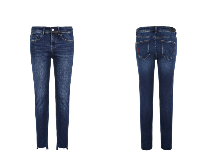 ONLY Women's autumn new low waist slim cropped jeans| 118349591 21